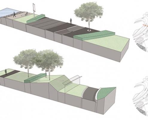 ontwerp landside-airside vliegveld UNStudio en MAAKspace