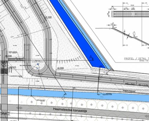landschaps architectonisch concept brug ontwerp MAAKspace